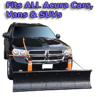 Auto Straight Snow Plow- Fits All Acura Cars, Vans & SUVs