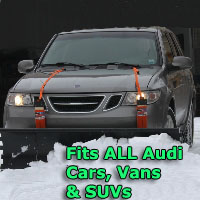 Auto Straight Snow Plow- Fits All Audi Cars, Vans & SUVs
