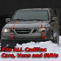 Auto Straight Snow Plow- Fits All Cadillac Cars, Vans & SUVs