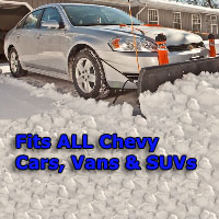 Auto Straight Snow Plow- Fits All Chevy Cars, Vans & SUVs