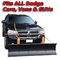 Auto Straight Snow Plow- Fits All Dodge Cars, Vans & SUVs