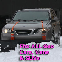 Auto Straight Snow Plow- Fits All Geo Cars, Vans & SUVs