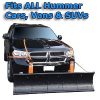 Auto Straight Snow Plow- Fits All Hummer Cars, Vans & SUVs