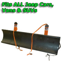 Auto Straight Snow Plow- Fits All Jeep Cars, Vans & SUVs
