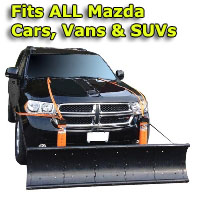Auto Straight Snow Plow- Fits All Mazda Cars, Vans & SUVs