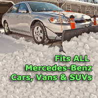 Auto Straight Snow Plow- Fits All Mercedes-Benz Cars, Vans & SUVs