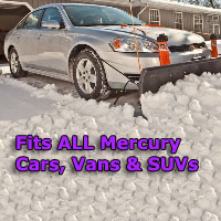 Auto Straight Snow Plow- Fits All Mercury Cars, Vans & SUVs