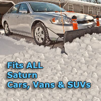Auto Straight Snow Plow- Fits All Saturn Cars, Vans & SUVs