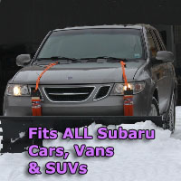 Auto Straight Snow Plow- Fits All Subaru Cars, Vans & SUVs