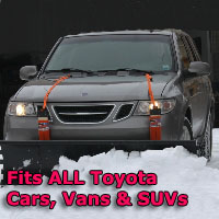 Auto Straight Snow Plow- Fits All Toyota Cars, Vans & SUVs