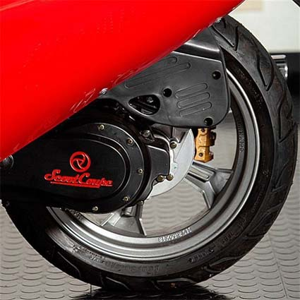 Scooter Coup Scooter Car Back Tire