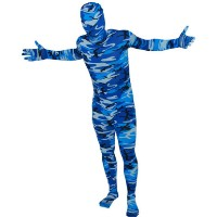 Brand New Blue Winter Camo RootSuit - Official Spandex Suit