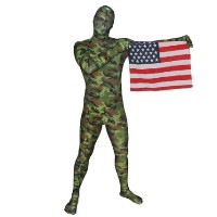 Brand New Green Camo RootSuit - Official Spandex Suit