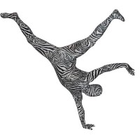 Brand New Zebra RootSuit - Official Spandex Suit