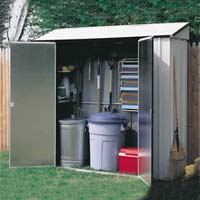 Storage Locker 7'x2' Arrow Outdoor Tool Storage Shed Kit
