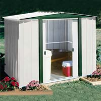 Hamlet 10'W x 8'D Arrow Metal Backyard Storage Shed Kit