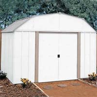 Lexington 10'W x 8'D Arrow Metal Outdoor Storage Shed Kit
