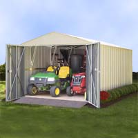 Arrow 10.27'W x 15.52'D x 7.71'H Mountaineer Metal Storage Shed Kit
