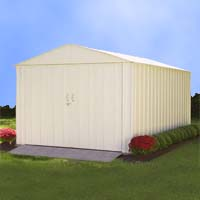 Arrow 10.27'W x 29.9'D x 7.71'H Mountaineer Metal Storage Shed Kit