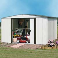 Newburgh 10'W x 8'D Arrow Metal Backyard Storage Shed Kit