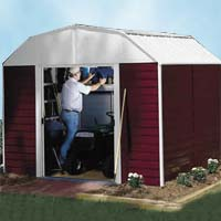 Red Barn 10'W x 8'D Arrow Metal Outdoor Storage Shed Kit