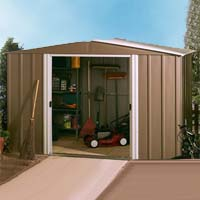 Arrow 10' x 10' European Metal Storage Shed Kit