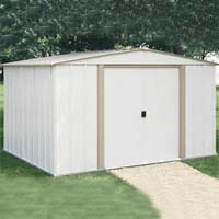 Salem 10'W x 8'D Arrow Backyard Metal Storage Shed Kit
