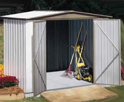 The Arrow Sentry Metal Shed Kit Is A Great Choice For Someone Looking For  Low Costing Storage Shed That Assembles Quick! Our Sentry Garden Sheds Are  One Of ...