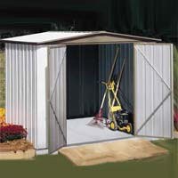 Sentry 8'W x 5'D Arrow Backyard Metal Garden Storage Shed Kit