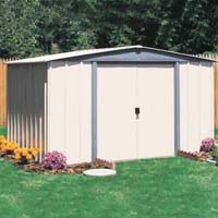 Vinyl Northfield 10'W x 8'D Arrow Backyard Metal Storage Shed Kit