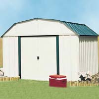 Vinyl Sheridan 10'W x 14'D Arrow Outdoor Metal Storage Shed Kit