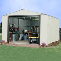 Vinyl Murryhill 14'Wx31'D Arrow Backyard Storage Garage / Shed Kit