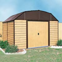 Woodhaven 10'W x 9'D Arrow Backyard Metal Storage Shed Kit