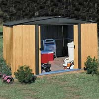 Woodlake 10'W x 8'D Arrow Outdoor Metal Storage Shed Kit