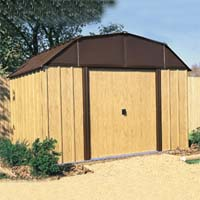 Woodview 10'W x 8'D Arrow Metal Outdoor Storage Shed Kit