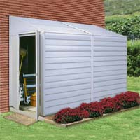 Yardsaver 4'W x 10'D Arrow Small Outdoor Metal Storage Shed Kit