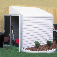 Yardsaver 4'x7' Arrow Small Outdoor Metal Storage Shed Kit
