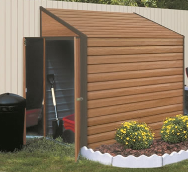 storage space solutions the woodgrain yardsaver storage shed fits in
