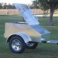 "48"" x 28"" x 19"" Aluminum Motorcycle / Car Trailer"
