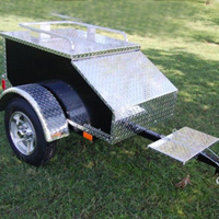 "48"" x 28"" x 19"" Aluminum Black Enclosed Motorcycle / Car Trailer"