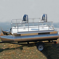 Brand New 12 ft Two Person Sport Pontoon Fishing Boat