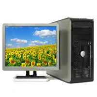 Fast Dell Dual Core 2 Duo Desktop Computer WIN 7, LCD Monitor, Wi-Fi