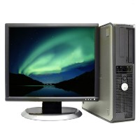 Dell Optiplex Desktop PC Computer Core 2 Duo 6GB 250GB WIN 7 Pro 64, LCD Monitor