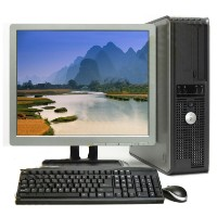 Lot of 5 Dell Optiplex Dual Core 3.4 GHZ Desktop PC 2GB 80GB WIN 7, LCD