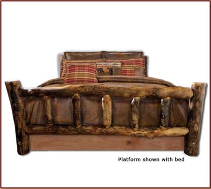 Brand New Rustic Furniture Timber Frame Log Bed
