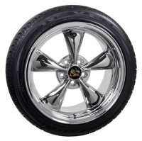 "18"" Mustang Bullitt Style Wheels & Tires Set - Chrome 18x9 Set - Fits All Mustangs 1994 - 2004"