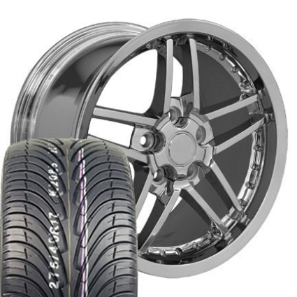 18 Quot C6 Z06 Deep Dish Wheels Amp Tires Set Chrome With