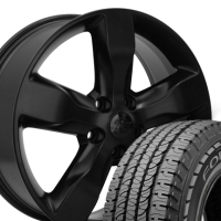 "20"" Jeep Grand Cherokee OEM Wheels & Tires Set - Matte Black 20x8 Set - Fits Grand Cherokee 1999-2004 & 2011-2012"