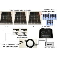 Brand New 300W Solar Panel Complete Kit