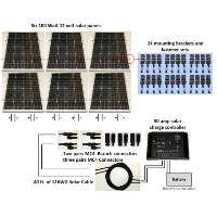 Brand New 600W 24V Solar Panel Complete Kit